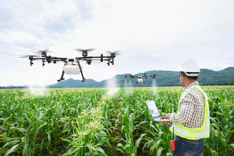 agritech drone farming' title=