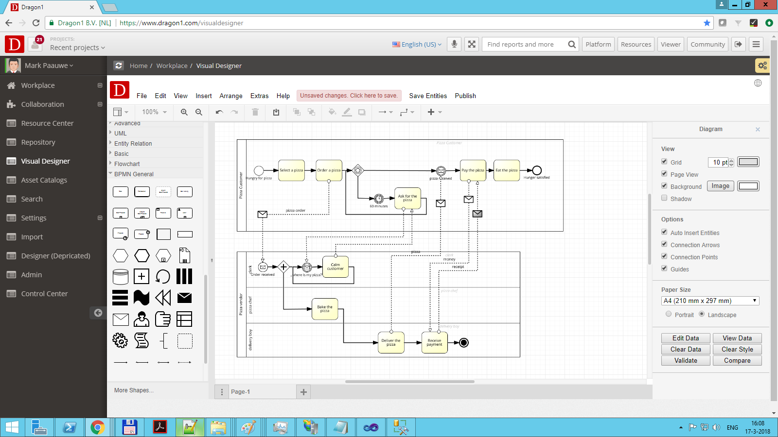 Create a bpmn diagram dragon1 bpmn diagram relationships ccuart Gallery