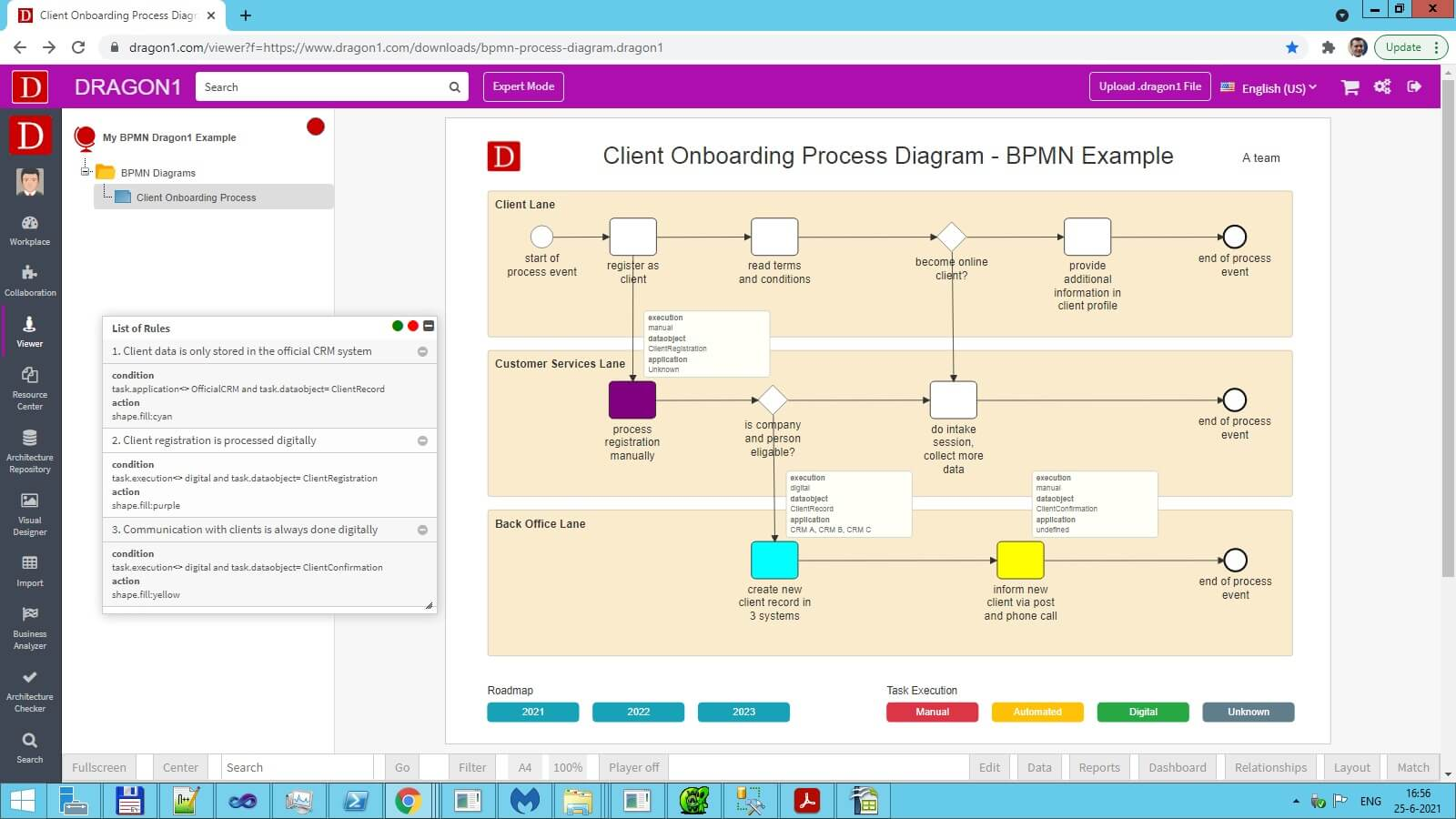 demo bpmn process diagram template