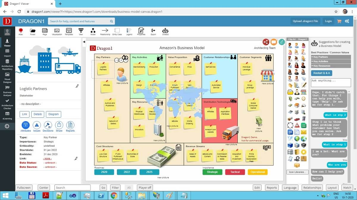 business model canvas template demo