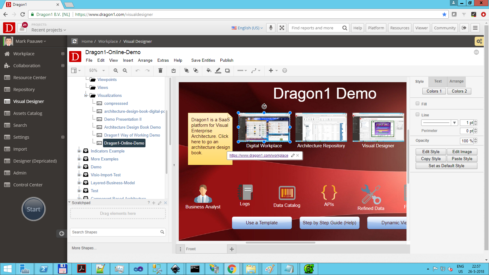 dragon1 find id visualization in treeview