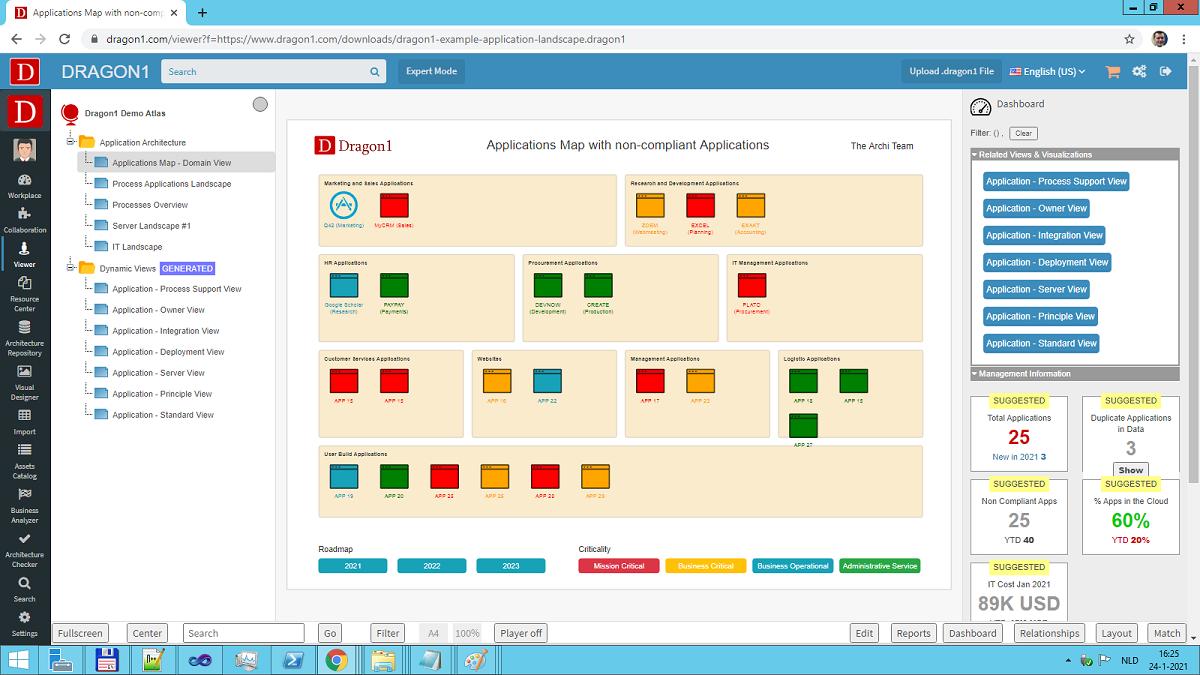 application architecture landscape demo
