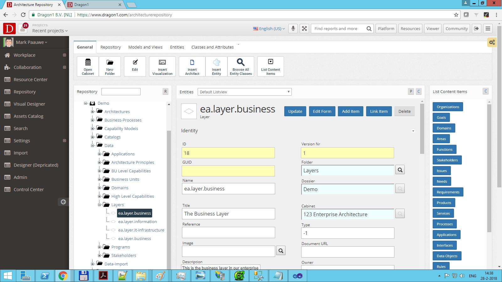 dragon1 change workflow status architecture layer