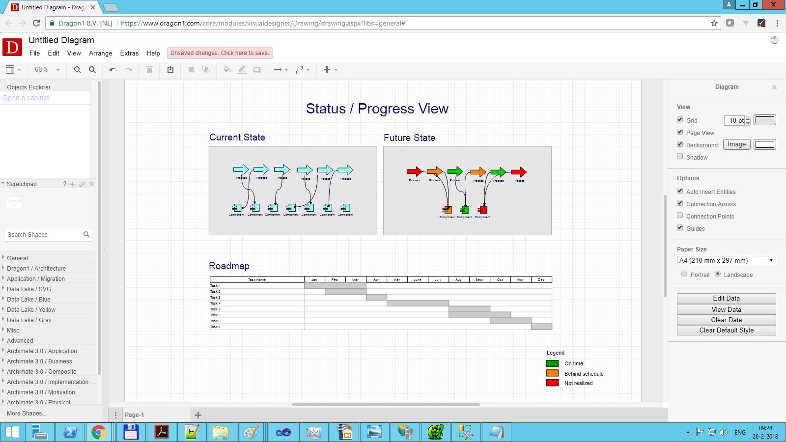 dragon1 status progress view