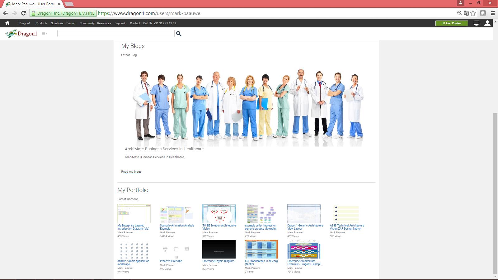 dragon1 visualizations in portfolio page