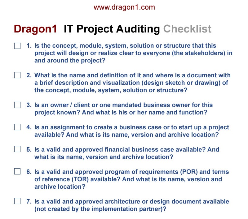 Project Management Solution  Dragon