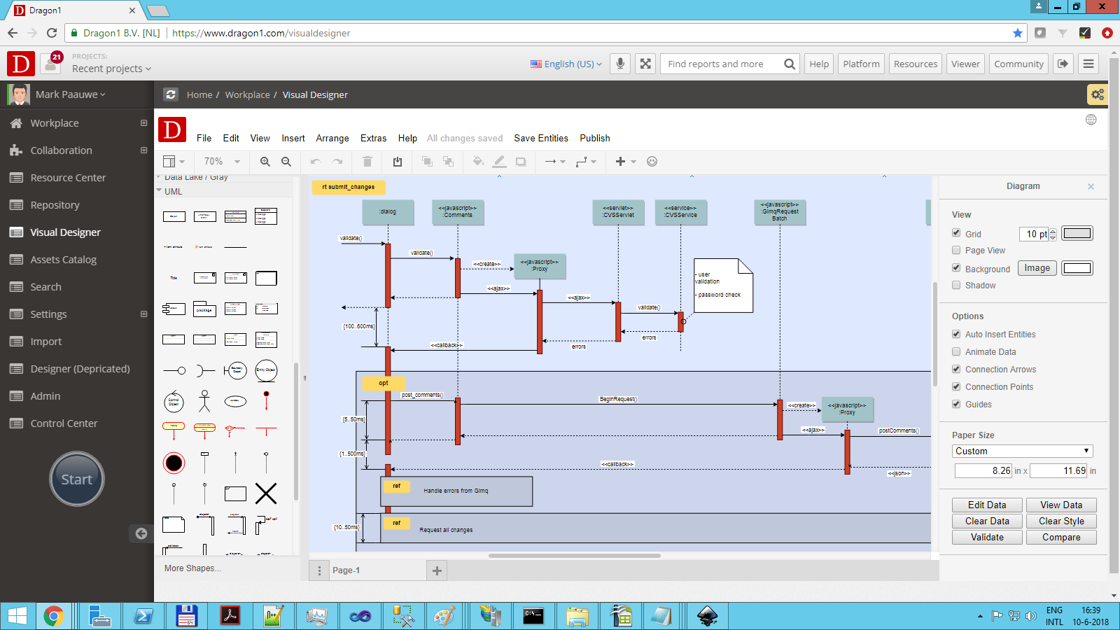 dragon1 uml diagram tool