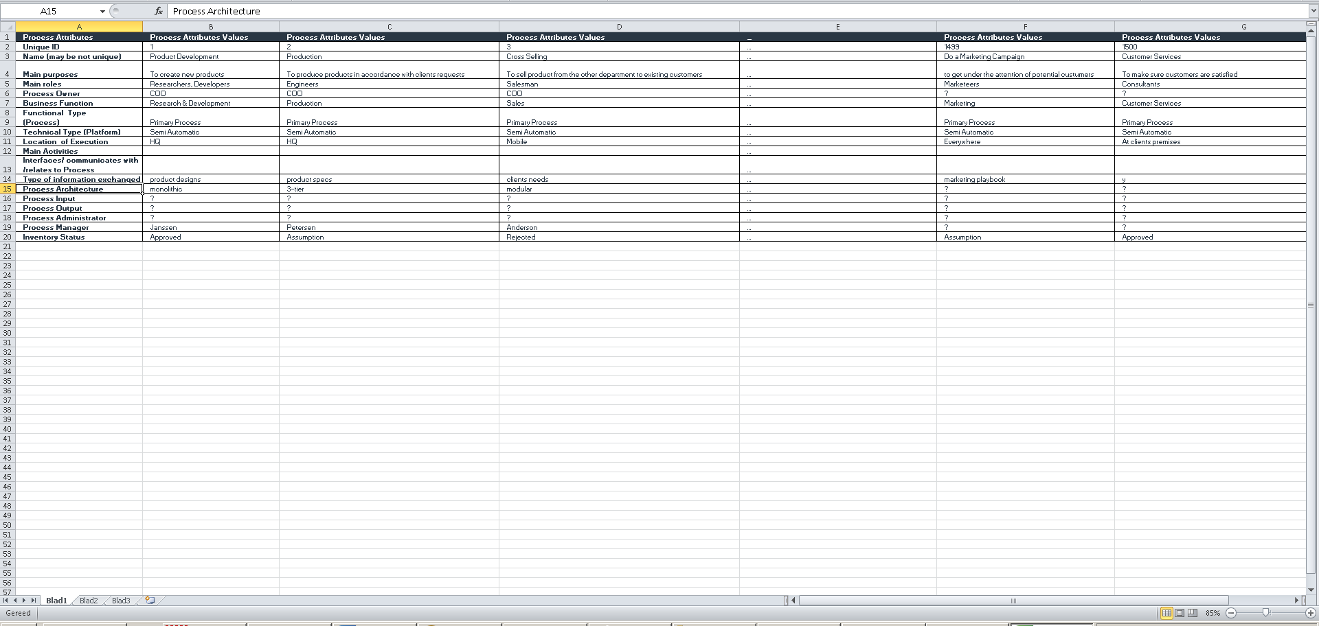 dragon1 excel sheet process rationalization