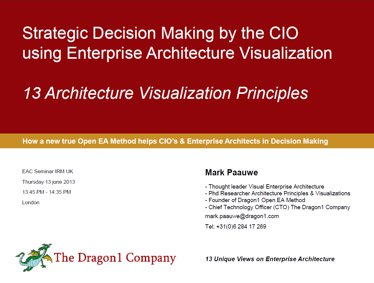 strategic decision making by the cio with 13 principles