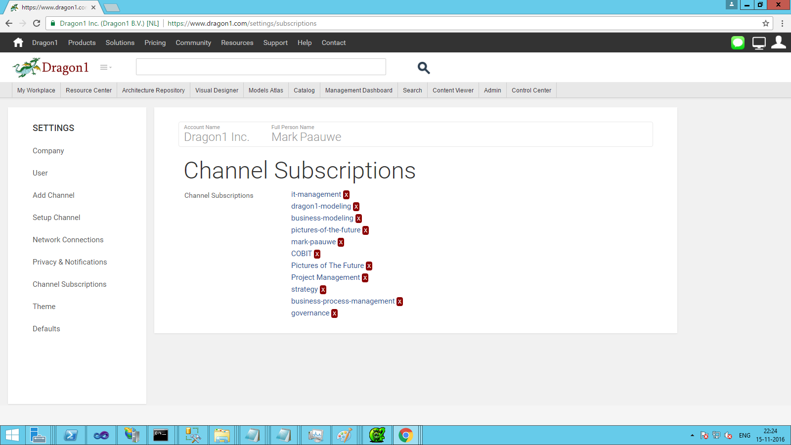 dragon1 manage subscriptions