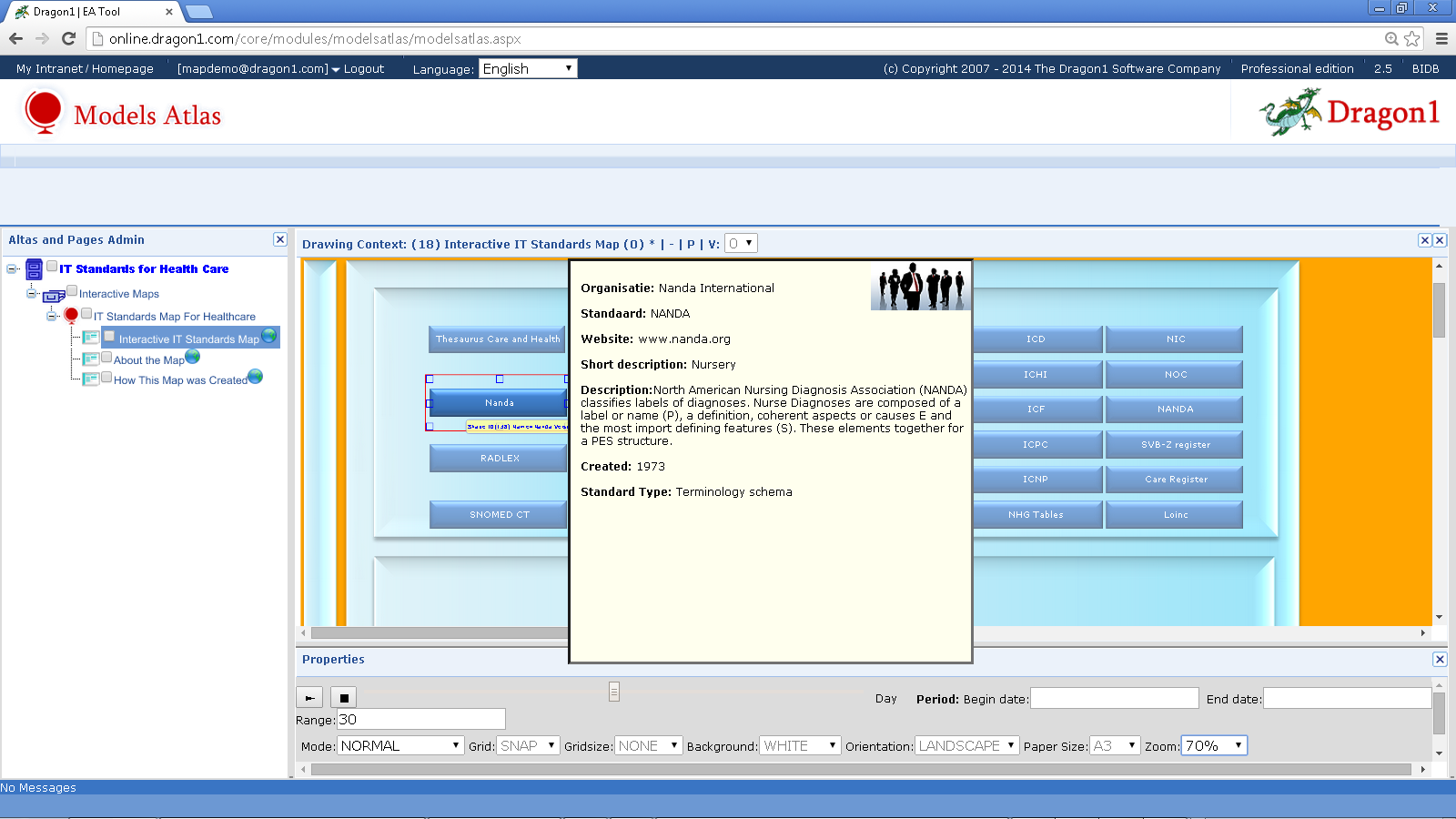 Screenshot Dragon1 Enterprise Architecture IT Standards Landscape for Health Care