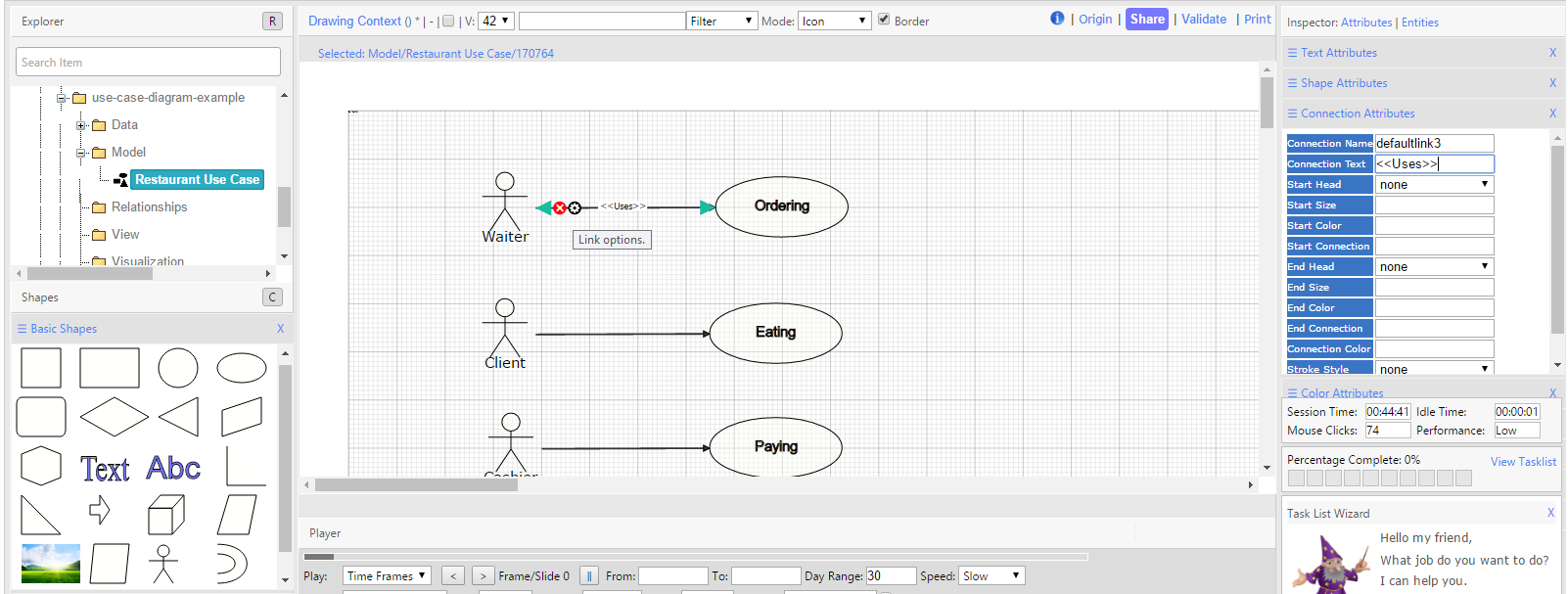Create a dynamic use case diagram dragon1 by dragging data from the explorer or by inserting shapes from the drop down menu in this tutorial we drag shapes from the shapes panel pooptronica Image collections