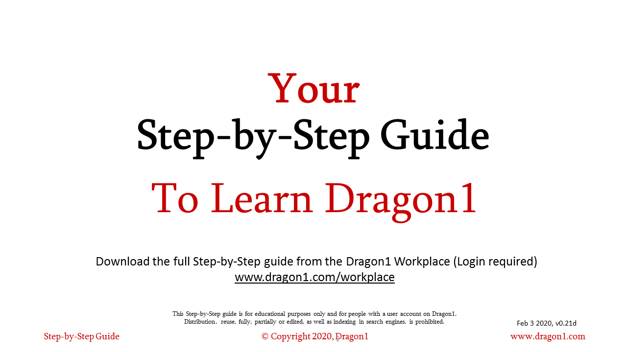 Dragon1-Step-by Step Guide - white